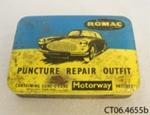 Tin, puncture repair kit; Romac Industries Ltd; 20th century; CT06.4655b