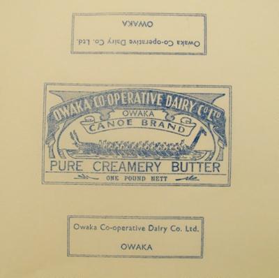 Paper, butter; Owaka Co-Operative Dairy Co Ltd; 1923-1973; CT95.2065.3
