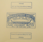 Paper, butter; Owaka Co-Operative Dairy Co Ltd; 1923-1973; CT95.2065.3