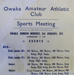 Sports ephemera, Owaka Amateur Athletic Club; Owaka Amateur Athletic Club; c1938-1972; 2010.195