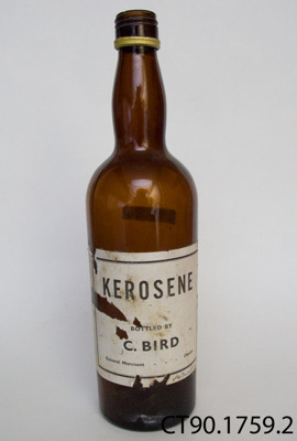 Bottle; Bird, C (General Merchant, Owaka); CT90.1759.2