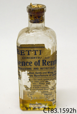 Bottle [Essence of Rennet]; [?]; [?]; CT83.1592h