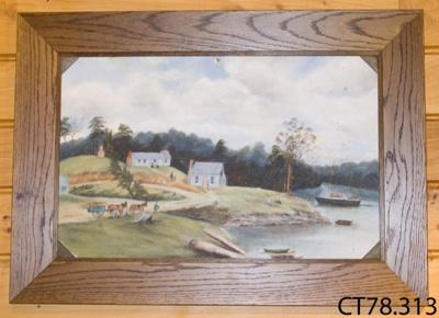 Painting [Home of Robert Latta]; Peterson, Edna (Mrs, nee Cooper); c1922; CT78.313