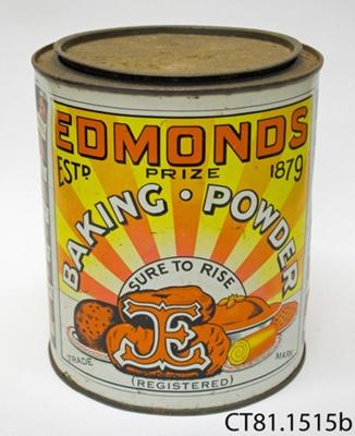 Tin, baking powder; T J Edmonds Ltd; [?]; CT81.1515b