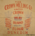 Bag, flour; Crown Milling Co Ltd; [?]; CT81.1561m