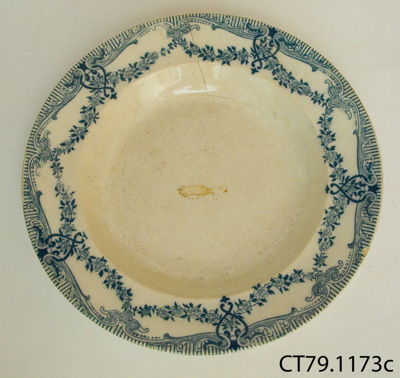 Plate, soup; B. P. Bovey Pottery & Co; CT79.1173c