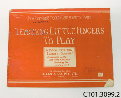 Book, music [Teaching Little Fingers to Play]; CT01.3099.2