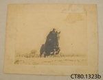 Photograph [Horse and rider]; [?]; Early 20th century; CT80.1323b