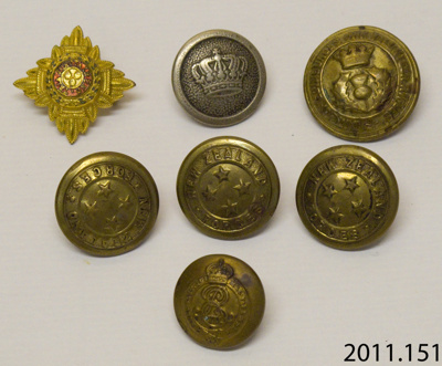 Buttons, military; [?]; [?]; 2011.151