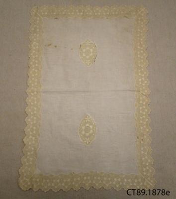 Cloth, tray; [?]; [?]; CT89.1878e