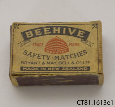 Matchbox; Bryant & May, Bell & Co Ltd; [?]; CT81.1613e