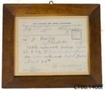 Telegram; New Zealand Post Office; 1918; CT80.1408f