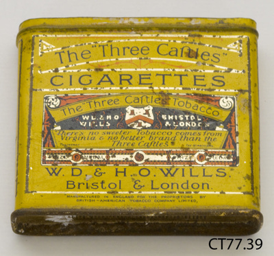 Tin, cigarette; W D & H O Wills; [?]; CT77.39