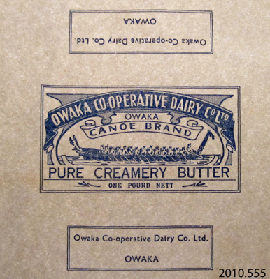 Paper, butter; Owaka Co-Operative Dairy Co Ltd; 1923-1973; 2010.555