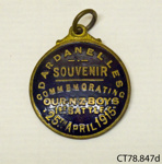 Badge, commemorative; [?]; c1915; CT78.847d