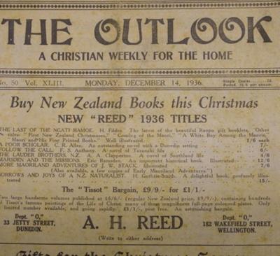 Magazine, The Outlook, December 14, 1936; Presbyterian Church of New Zealand; 1936; CT81.1250g