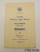 Programme [ODHS Jubilee Banquet]; Clutha Leader Print; 1951; CT82.1618c