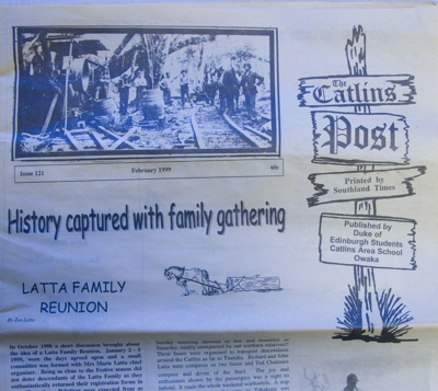 Newspaper, The Catlins Post, Complete set, all issues - December 1986 to December 2014, issues 1 to 170 in A3 format and 171 to 225 in A4 format. Includes notes on the origins of the Catlins Post by Mavis Turnbull and a brief history of the Catlins Post by Moira Spicer; Southland Times Ltd; 1986-2014; 2010.198