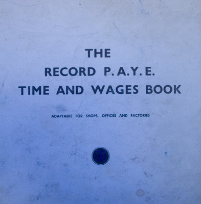 Wages Book, White Stores, 1967-1969; 1967-1969; CT93.1041b