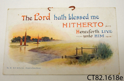 Picture [The Lord hath blessed me]; H C & Co Ltd; CT82.1618e