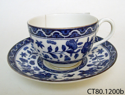 Teacup and saucer; Doulton & Co Ltd; CT80.1200b