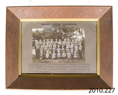 Photograph [Independent Order of Oddfellows, New Zealand]; [?]; March 1925; 2010.227