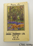 Notebook ; Owaka Pharmacy Ltd; 1970; CT85.1694a