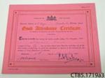 Certificate [Stewart Read]; [?]; 1932; CT85.1719a3
