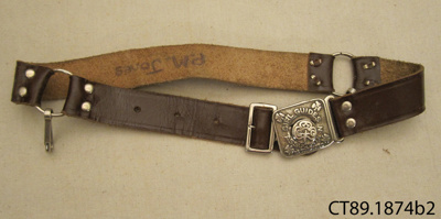 Belt, Girl Guide; Girl Guides Association; 20th century; CT89.1874b2