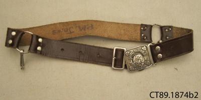 Belt, Girl Guide; Girl Guides Association; 20th century; CT89.1874b2