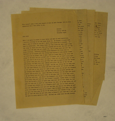 Letter, from Mother to Gert, Spring 1935-1936; 1935-36; 2013.31