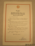 Certificate of Achievement [James Macalister Brown]; St John Ambulance Association; 1979; 2010.417.7.6