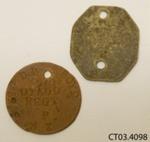 Tags, identity; [?]; c1914-1918; CT03.4098