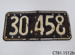 Plate, vehicle licence; CT81.1512b