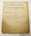 Certificate [Acknowledgement of Offer of Services]; New Zealand Expeditionary Force; 29.07.1915; CT04.4112.3