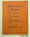 Book, Alexander's Hymns No. 3; The Marshall Press Ltd; [?]; CT83.1645 j, l