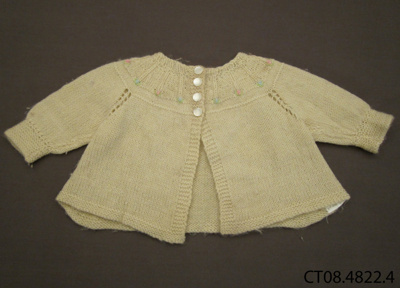 Cardigan, baby's; Jones, Dawn (Mrs) [?]; 1950s; CT08.4822.4