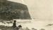 Photograph [A Boy and His Dog Watch the Sea, The Catlins]; [?]; [c1920s-1930s?]; CT83.1478t