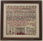 Sampler, embroidery; Logan, Martha (Mrs, nee McDowell); 1858; 2010.899