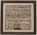 Sampler, embroidery; Logan, Martha (Mrs, nee McDowell); 1858; 2010.899