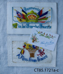 Postcards,  from France, WWI ; c1916; CT85.1721a - c