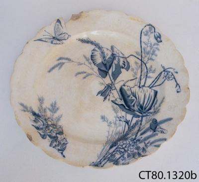 Plate, dinner; R Hammersley & Son; 1885-1905; CT80.1320b