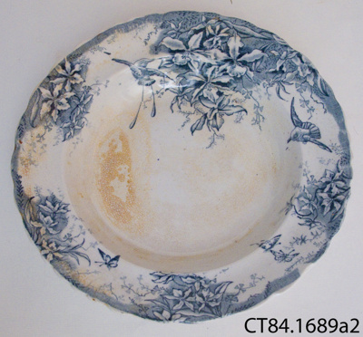 Plate, soup; P Holdcraft & Co; 1846-1852; CT84.1689a2