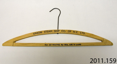 Coat-hanger; Union Steam Ship Co of New Zealand Ltd; [?]; 2011.159