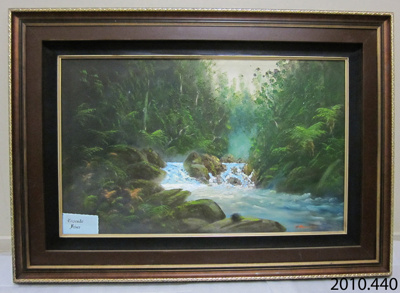 Painting [Cascade River]; Finnerty, Michael (Mr); 20th century; 2010.440