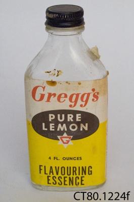 Bottle, essence; W Gregg & Co Ltd; CT80.1224f