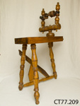 Component, spinning wheel; [?]; pre 1870.; CT77.209