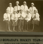 Photograph [Romahapa Hockey Team, 1920]; [?]; 1920; CT79.1286c2