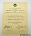 Certificate [Tahakopa Sub-Centre, New Zealand Red Cross]; British Red Cross Society; 1945; CT88.1857a