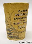 Cup, paper [Byrd's Antarctic Expedition]; Mono-Service Co; c1928; CT86.1816e